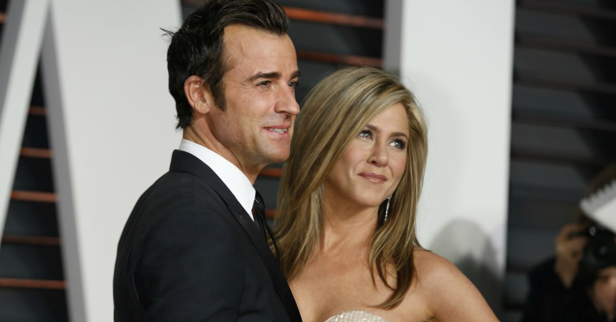Jennifer Aniston and Justin Theroux. Image courtesy of Helga Esteb / Shutterstock.com