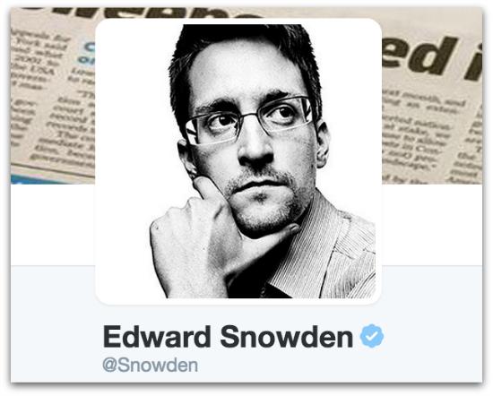 Snowden on Twitter