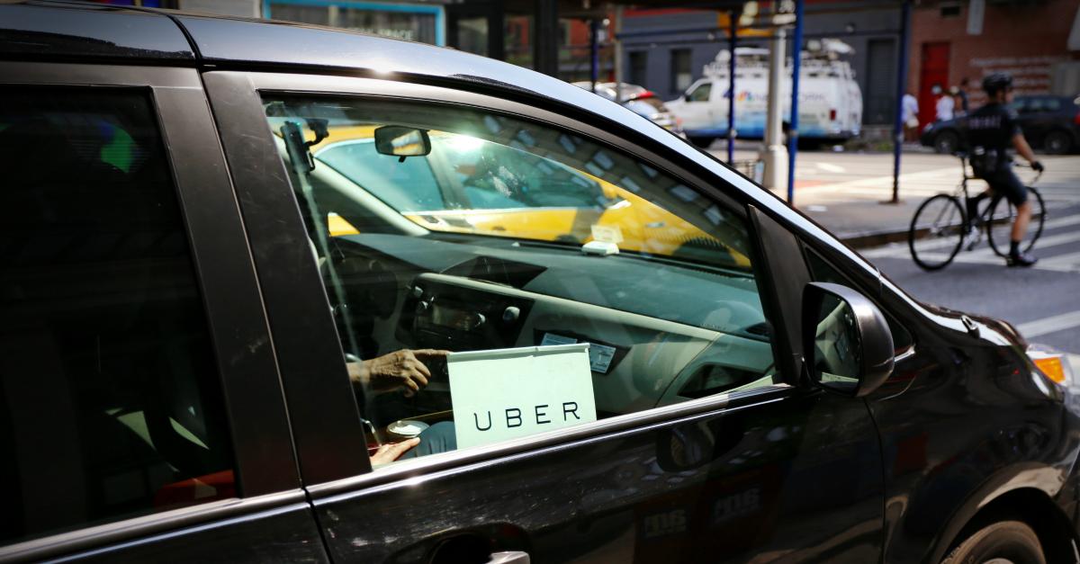 Uber car. Image courtesy of mikedotta / Shutterstock.