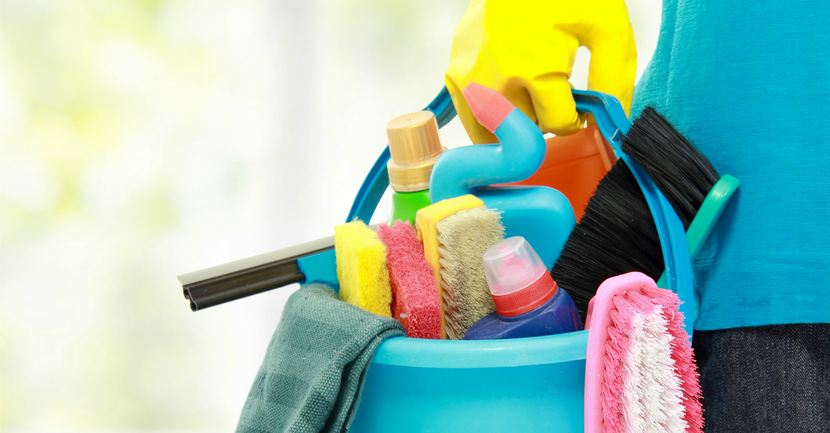 Cleaning image courtesy of Shutterstock
