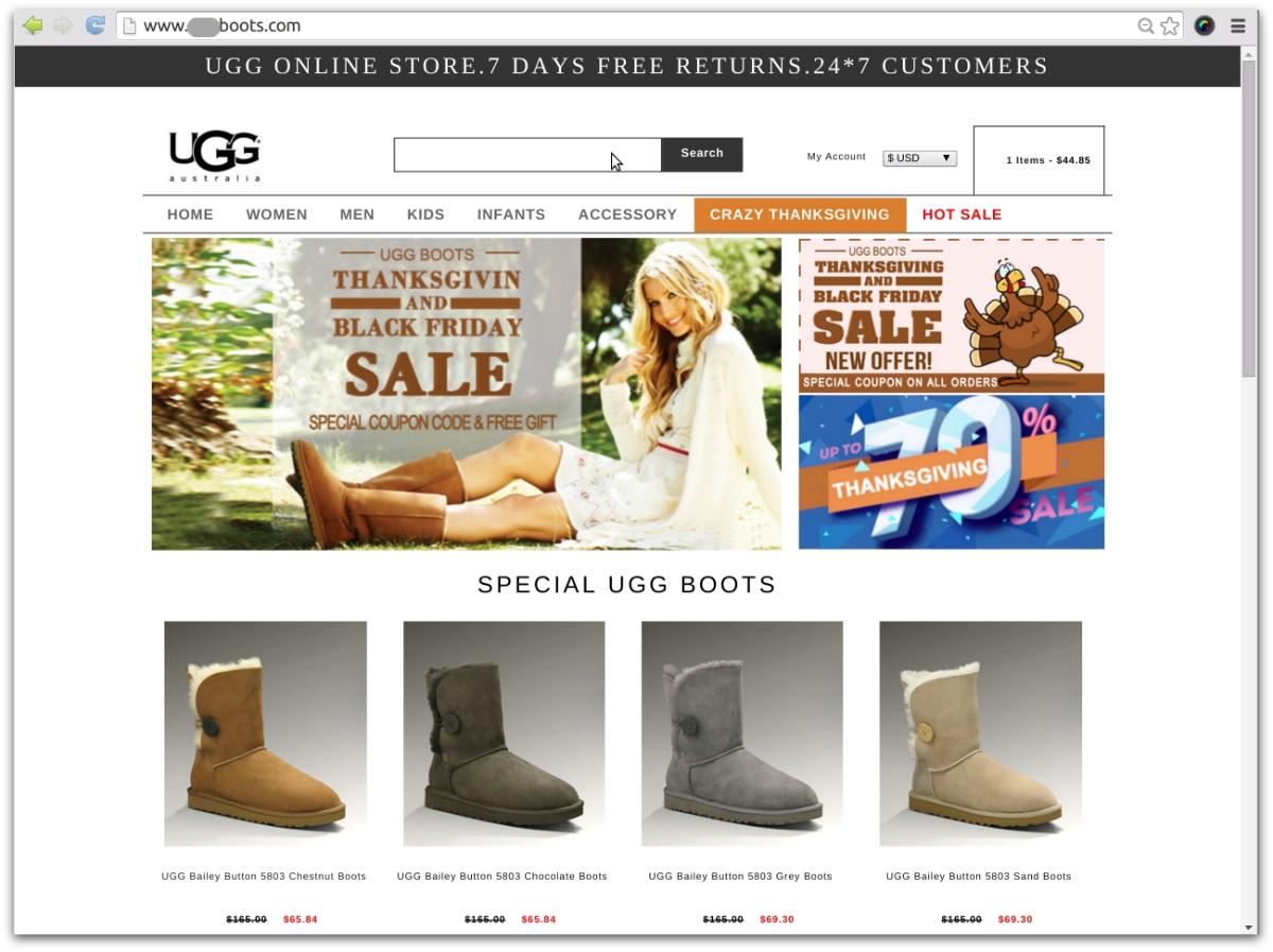 ugg scam website