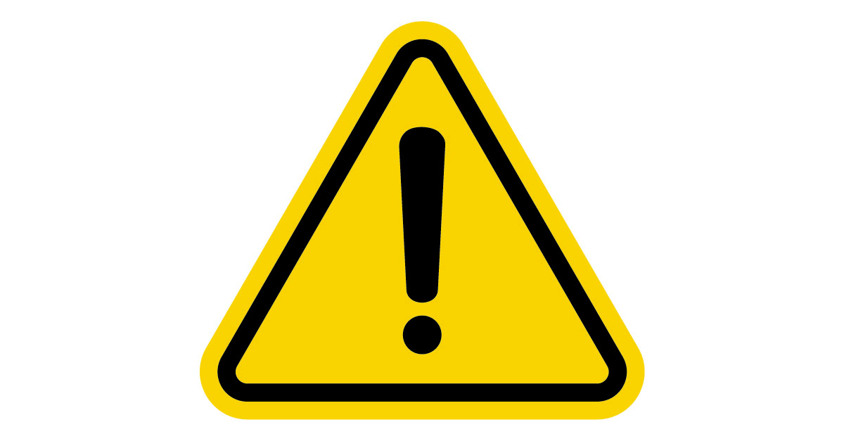 Warning sign. Image courtesy of Shutterstock.
