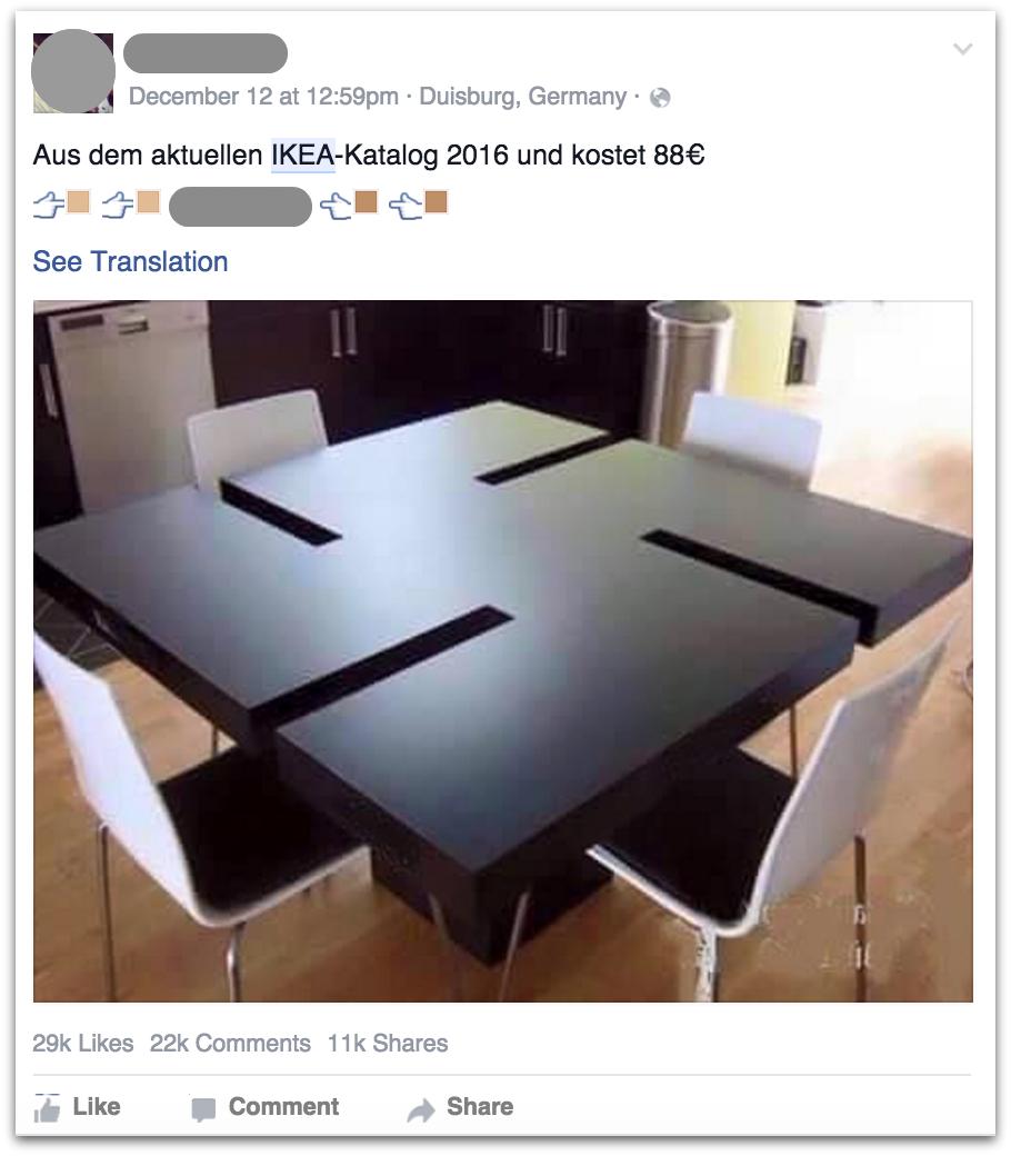 IKEA facebook hoax