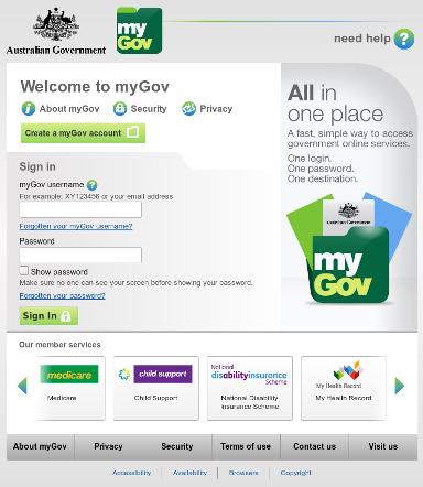 Australia MyGov Phish site