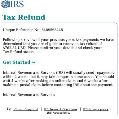 IRS ID theft phish 2017