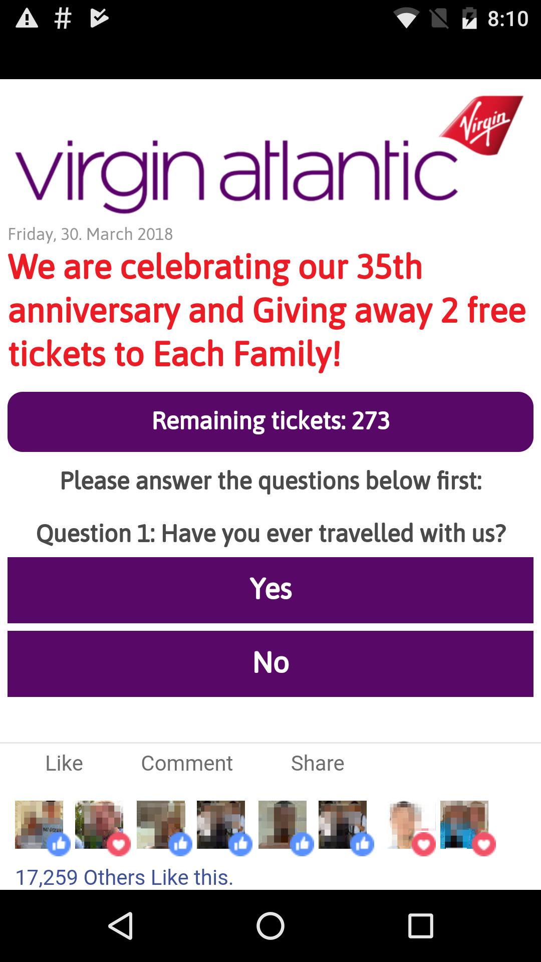 Virgin Atlantic scam